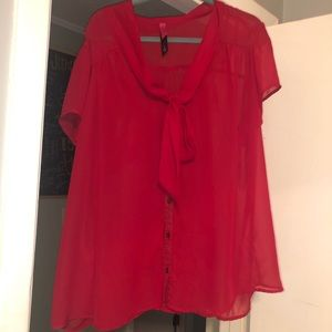 Plus size 4XL red see through Old Navy Top